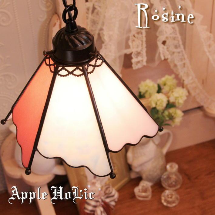ペンダントライト 【Rosine・ロジーヌ】 LED対応 プリンセス ステンドグラス ランプ