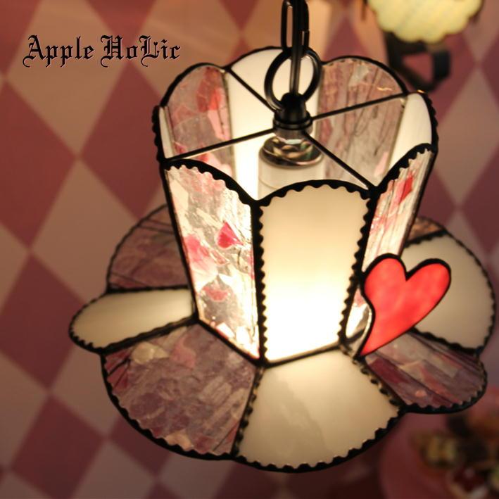 ペンダントライト 【Lady Hat・レディーハット】 LED対応 クラシック ハット ステンドグラス ランプ