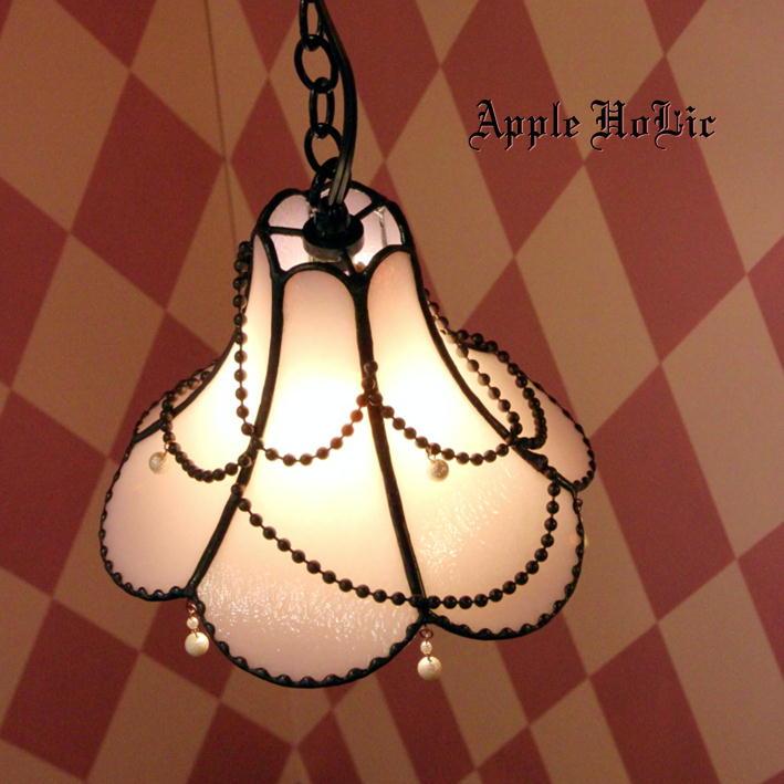 ペンダントライト 【Louise・ルイーズ】 LED対応 ロマンチック ハート ステンドグラス ランプ
