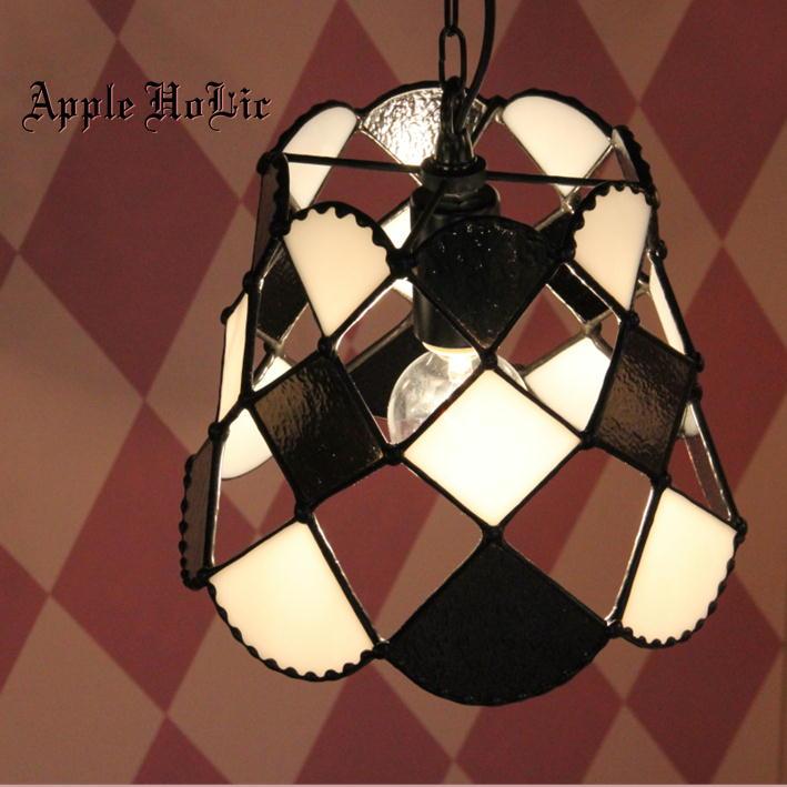 ペンダントライト 【Pawn・ポーン】 LED対応 クラシック チェス ステンドグラス ランプ