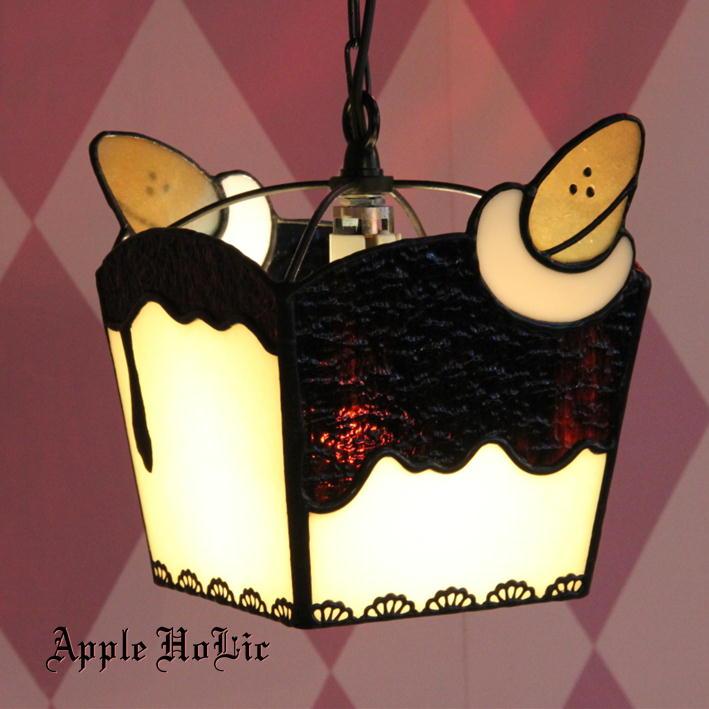 ペンダントライト 【Souffle Banana・スフレ バナナ】 LED対応 スイーツ ステンドグラス ランプ