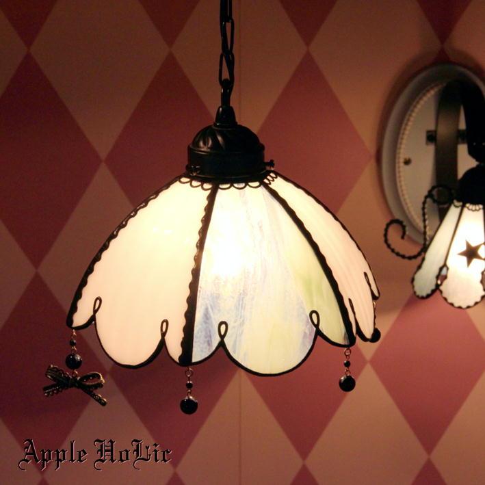 ペンダントライト 【Swanilda・スワニルダ】 LED対応 フェアリーテイル ステンドグラス ランプ