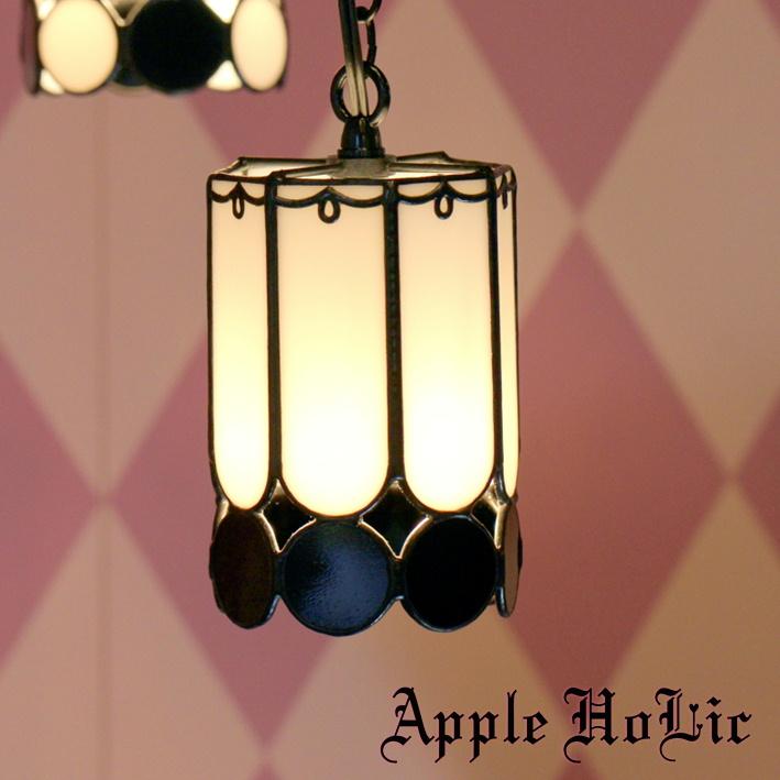 ペンダントライト 【White Knight・ホワイトナイト】 LED対応 チェス ステンドグラス ランプ