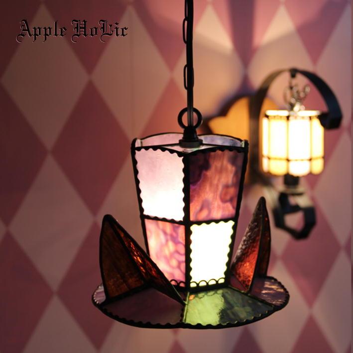 ペンダントライト 【Wolfir・ウルフィー】 LED対応 ハロウィン ステンドグラス ランプ