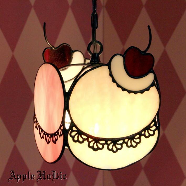 ペンダントライト 【Woopie Pie Peach・ウーピーパイピーチ】 LED対応 スイーツ ステンドグラス ランプ
