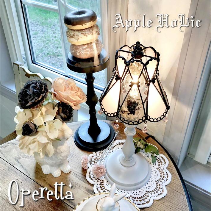 テーブルランプ 【Operetta・オペレッタ】 LED対応 リボン 置き型照明 ステンドグラス ランプ