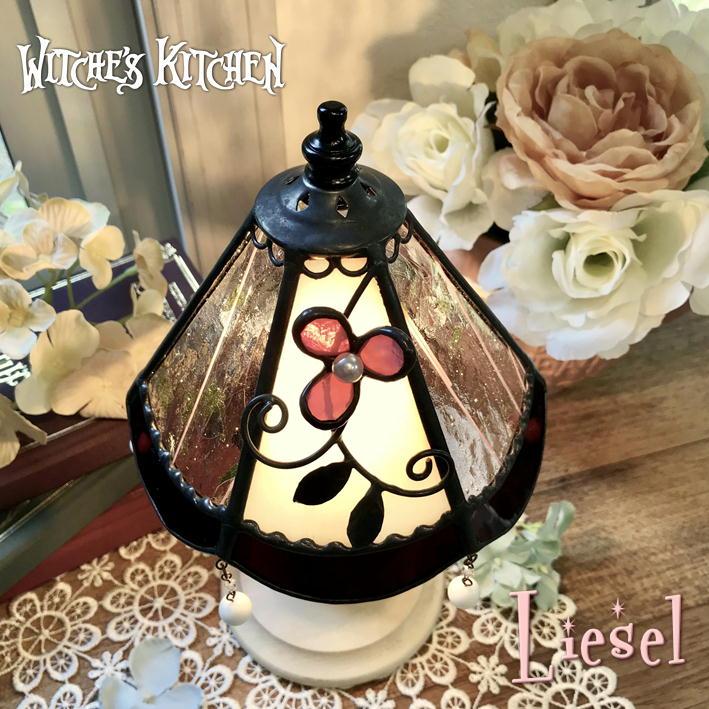 テーブルランプ【Liesel・リーゼル】LED対応 ロマンチック 置き型照明 ステンドグラス ランプ