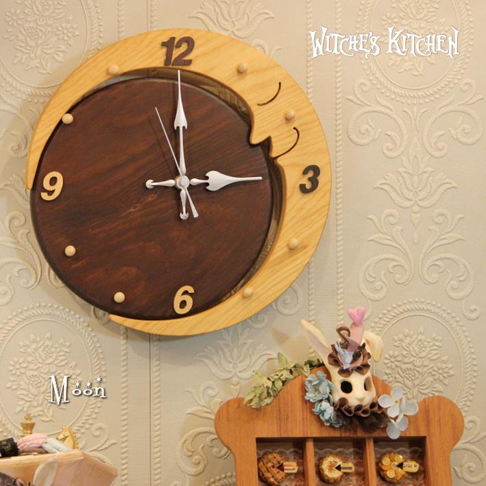 かろやかに歌うお月様の壁掛け時計【Moon・ムーン】ロマンチック 月