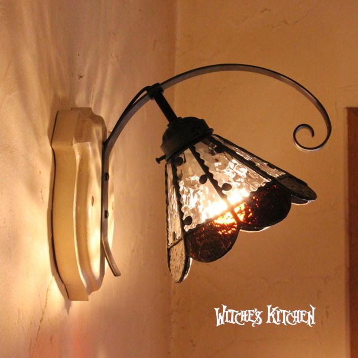 ブラケットライト 壁掛け照明 【Drossel・ドロッセル】 LED対応 水玉 クラシック 壁掛け照明 ステンドグラス ランプ