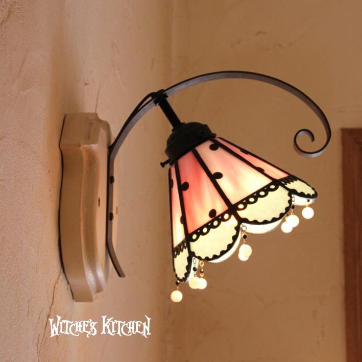 ブラケットライト【Melody・メロディー】LED対応 水玉模様 壁掛け照明 ステンドグラス ランプ