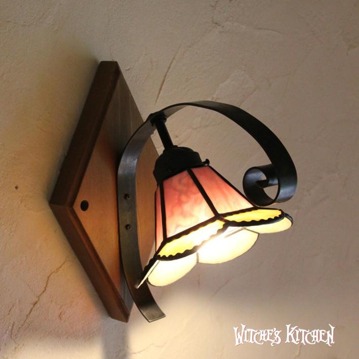 ブラケットライト 【Sindly・シンドリー】 LED対応 フラワー 壁掛け照明 ステンドグラス ランプ