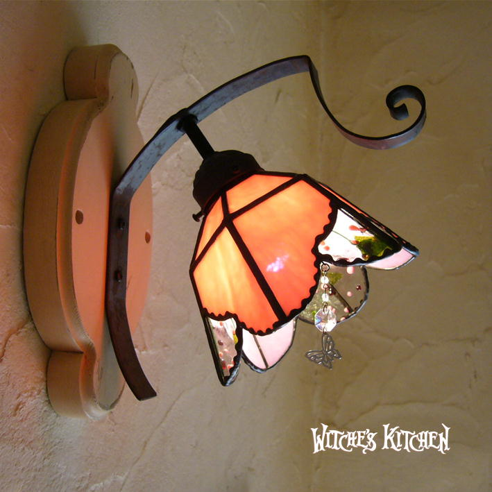 ブラケットライト【Maia・マイア】LED対応 おやゆび姫 壁掛け照明 ステンドグラス ランプ
