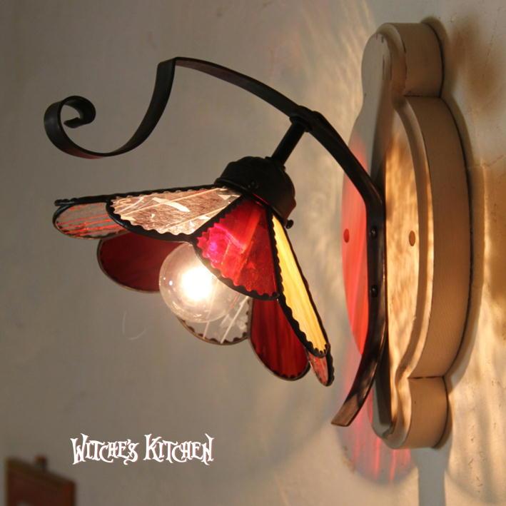 ブラケットライト【Marguerite・マーガレット】LED対応 ロマンチック フラワー 壁掛け照明 ステンドグラス ランプ ブラケットライト