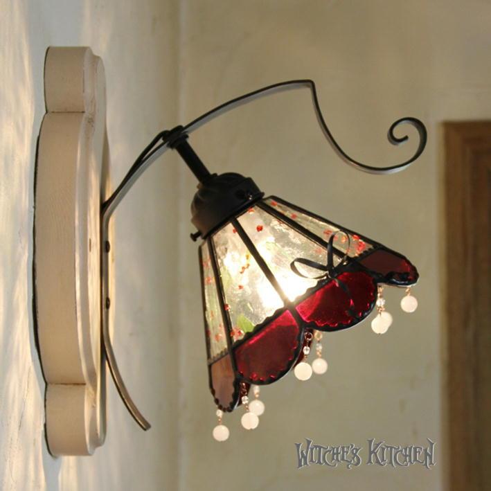 ブラケットライト【Strawbarry Melba・ストロベリーメルバ】LED対応 スイーツ 壁掛け照明 ステンドグラス ランプ ブラケットライト