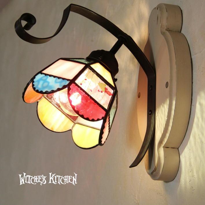 壁掛け照明 ブラケットライト【Susie・スージー】LED対応 ポップ 壁掛け照明 ステンドグラス ランプ