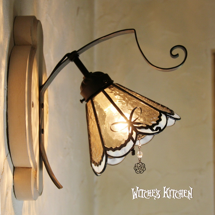 ブラケットライト アンティーク ステンドグラス 壁掛け照明 おしゃれ 【Rosalie・ロザリー】LED対応 リボン ステンドグラス ランプ | かわいい 照明器具 ブラケット 照明 おしゃれ アンティーク