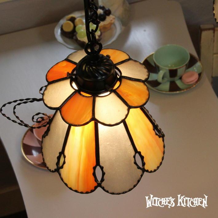 ペンダントライト 【Assam・アッサム】 LED対応 お茶会 ステンドグラス ランプ