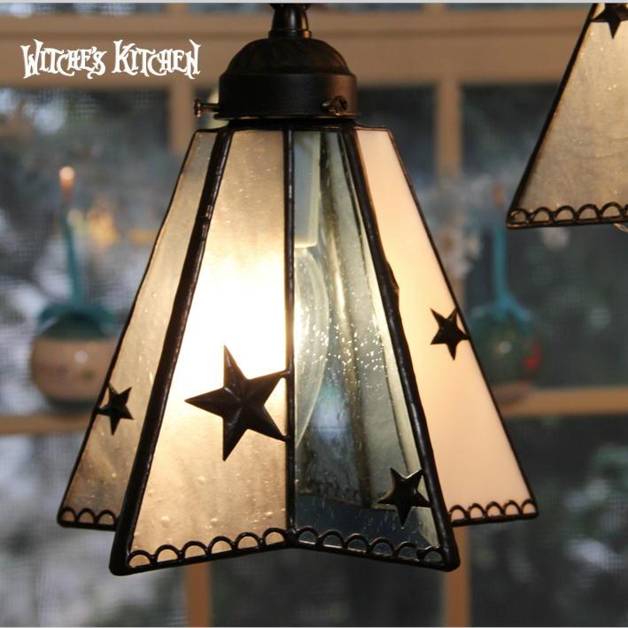 ペンダントライト 【Stern・シュテルン】 LED対応 星 ステンドグラス ランプ