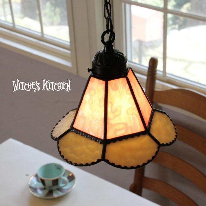 ペンダントライト 【Sindly・シンドリー】 LED対応 フラワー ステンドグラス ランプ
