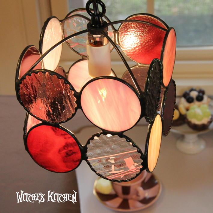 ペンダントライト ステンドグラス ガラス【Strawbaby・ストロベビー】LED対応 ステンドグラス ランプ キャンディー おしゃれ かわいい ポップ ペンダントライト ガラス