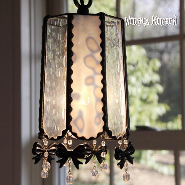ペンダントライト 【Nerine・ネリネ】 LED対応 ロマンチック リボン ステンドグラス ランプ