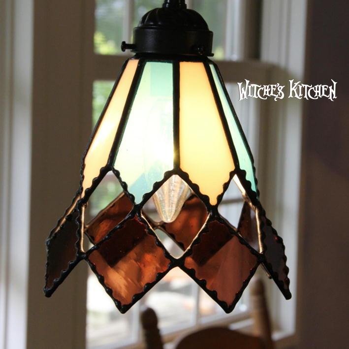 ペンダントライト 【Marrone・マローネ】 LED対応 ロマンチック ステンドグラス ランプ
