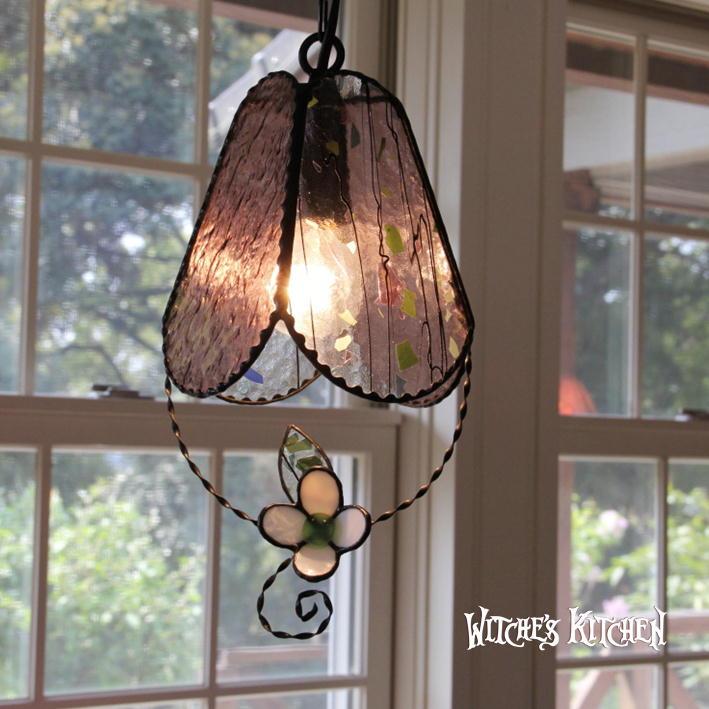 ステンドグラス 照明 ペンダントライト 【Merberry Pink・マーベリーPink】 LED対応 フラワー ステンドグラス ランプ