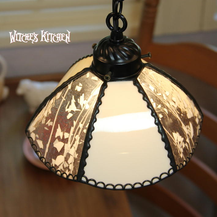 ペンダントライト 【Ginger MILK・ジンジャー ミルク】 LED対応 フラワー ステンドグラス ランプ
