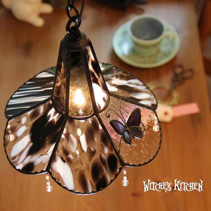 ペンダントライト 【Vivace・ヴィヴァーチェ】 LED対応 蝶 ステンドグラス ランプ