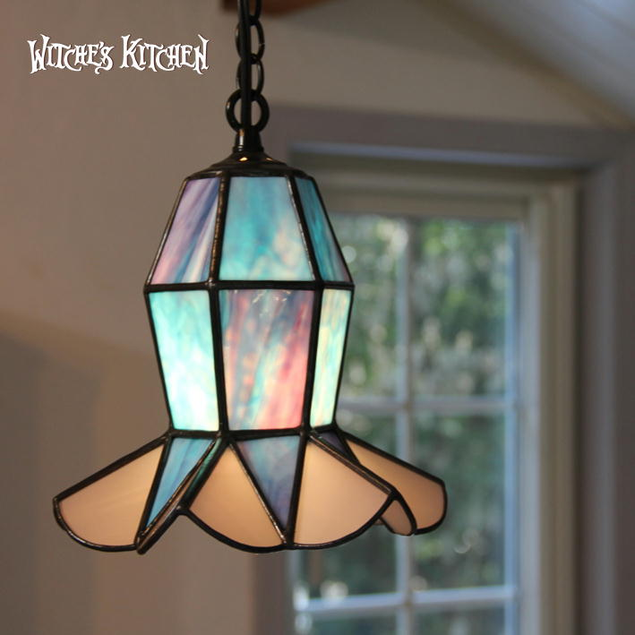 ペンダントライト 【Frill・フリル】 LED対応 ハート ステンドグラス ステンドグラス ランプ