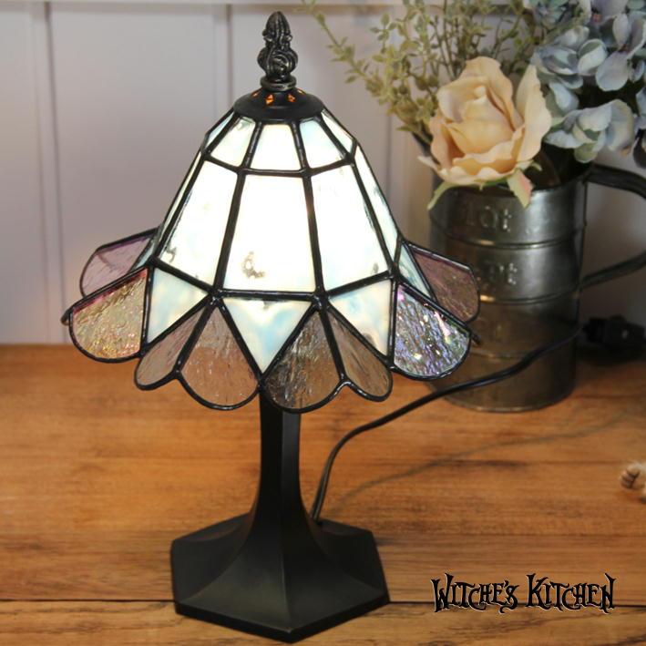 テーブルランプ 【Bluelace・ブルーレース】 LED対応 エレガント 置き型照明 ステンドグラス ランプ
