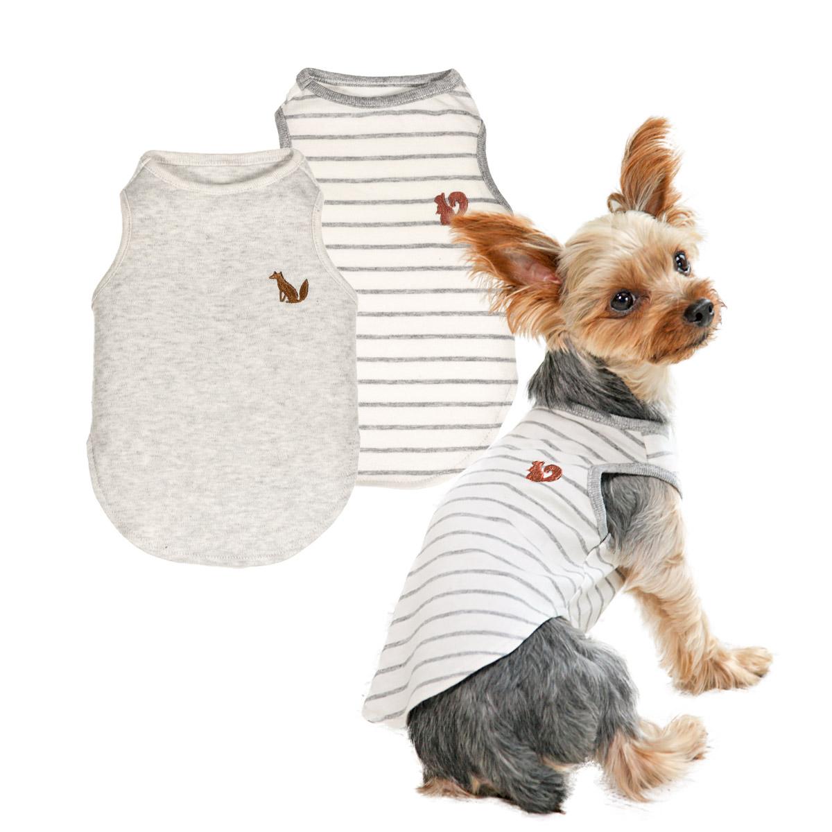2020AWオーガニックコットンタンク犬と生活犬服 犬 服 オーガニック 肌着 タンク インナー 当店は最高な サービスを提供します 静電気防止 高額売筋