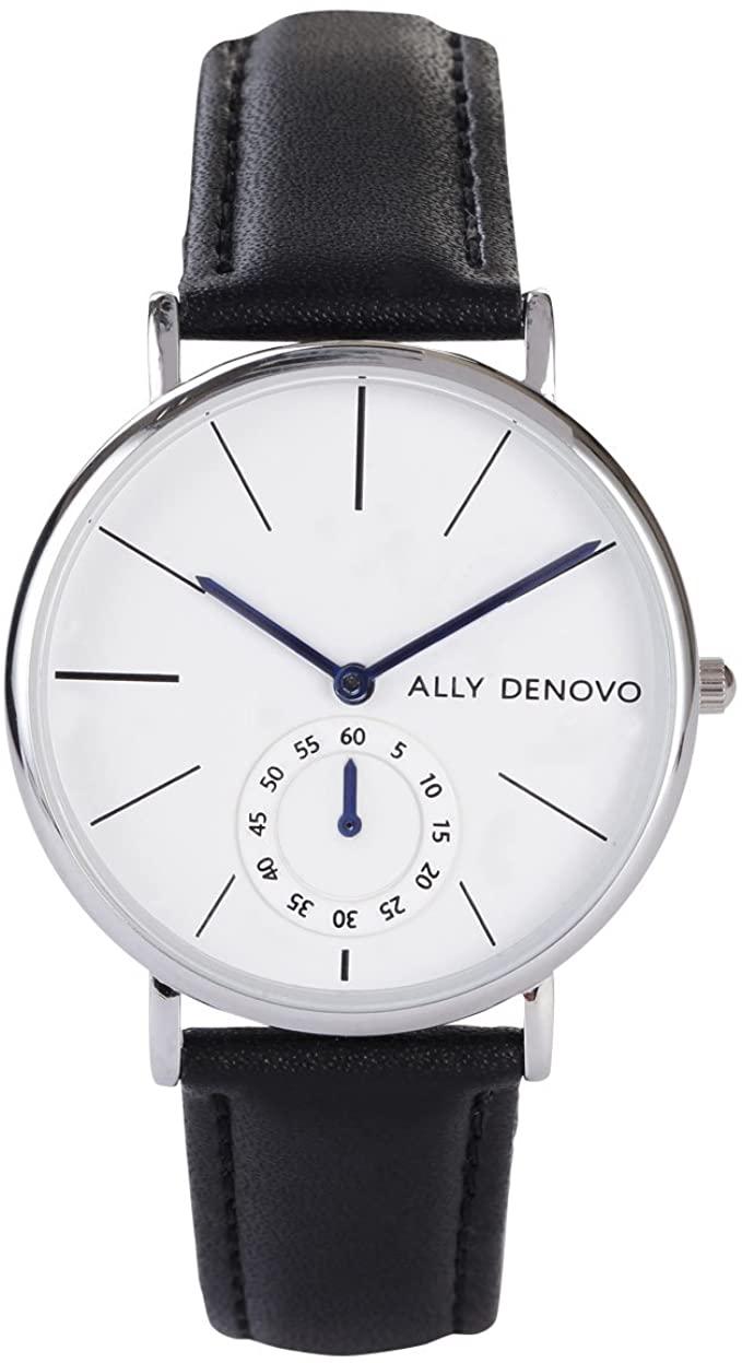 ALLY DENOVO 腕時計 本物 Heritage Small Eye 36mm スモールアイ メンズ 並行輸入品 レザーベルト 高い素材 レディース ヘリテージ AF5001-1