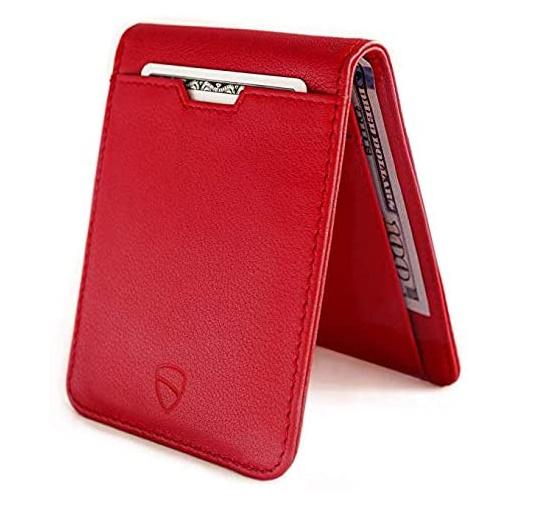 Vaultskin MANHATTAN 新品 送料無料 財布 フロントポケット マネークリップ RED メンズ レディース 男女兼用 ショッピング