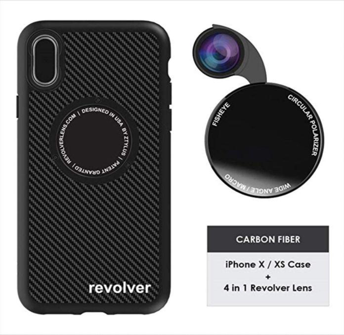 ZTYLUS X XS レンズ付き スマホケース 安売り Carbon バースデー 記念日 ギフト 贈物 お勧め 通販 Fiber 4in1 リボルバー カメラ セット メガネ拭き