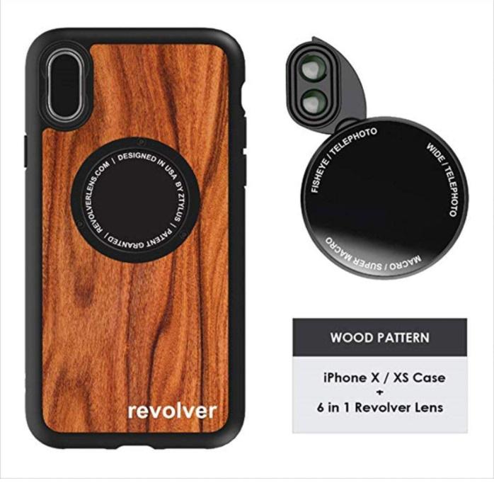 ZTYLUS 価格交渉OK送料無料 卓越 X XS レンズ付き スマホケース Foever 6in1 カメラ セット Wood メガネ拭き リボルバー