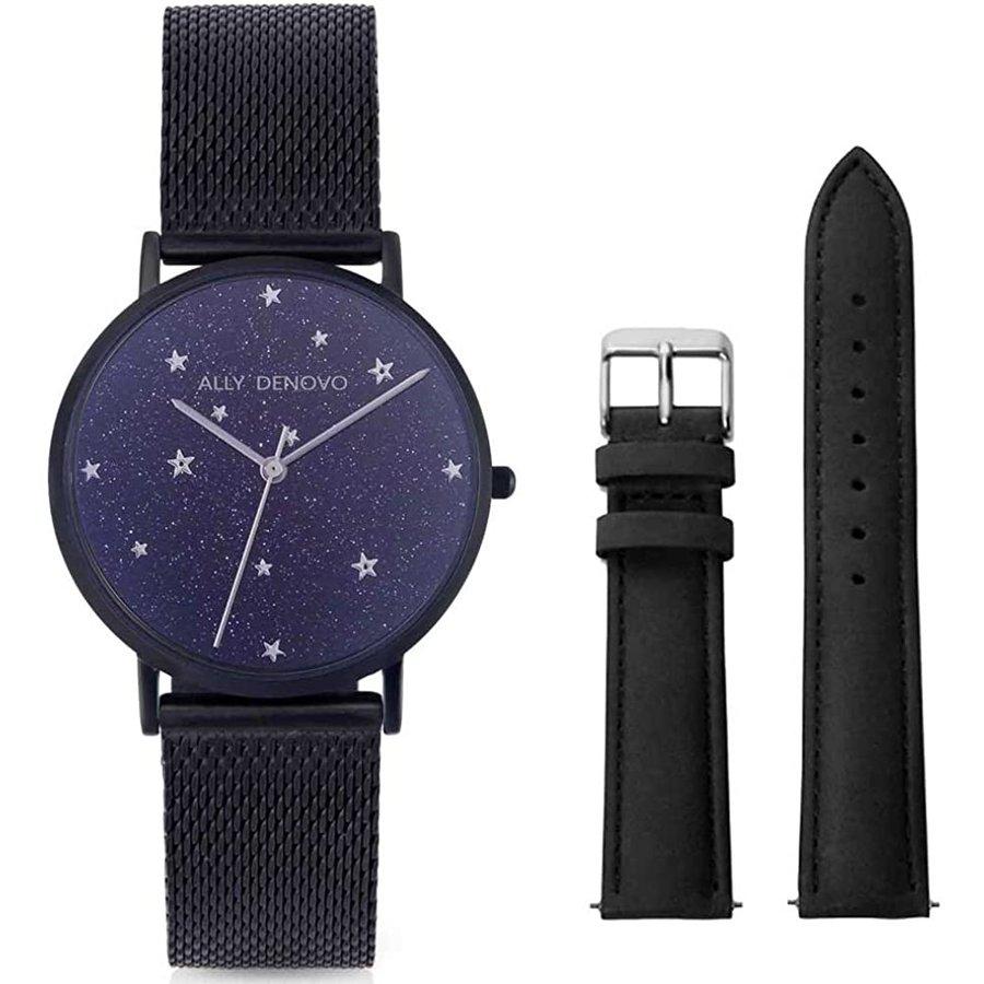 アリーデノヴォ ALLY DENOVO レディース 腕時計 お気に入り 1着でも送料無料 Starry Night AF5017-3 レザーベルト付き ウォッチ スタリーナイト BeltSet 36mm