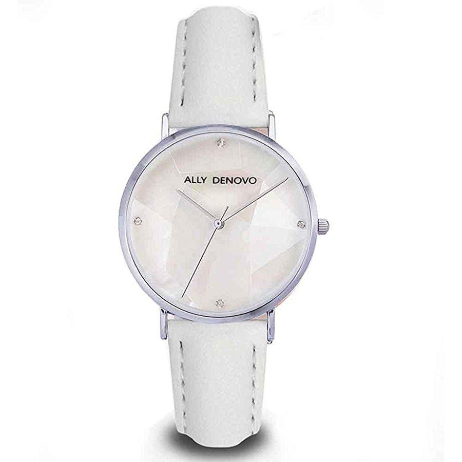 アリーデノヴォ ALLY モデル着用&注目アイテム DENOVO レディース 腕時計 買物 Gaia Pearl ホワイト パール AF5003-6 36mm