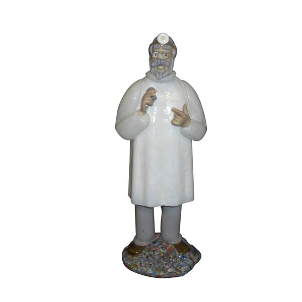 チェコ共和国製 ボヘミア ドクター人形 425 耳鼻科医 【 ドクター人形 】  ポイント消化 記念品 開院祝い 開業祝い お医者様への贈り物 ギフトラッピングサービス 送料無料