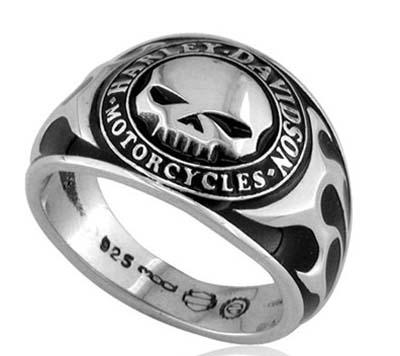 ハーレーダビッドソン Harley Davidsonリングメンズ スカル リング ウイズ ブラック エナメルMen's Skull Ring with Black Enamelハーレー純正 正規品 アメリカ買付 USA直輸入 通販