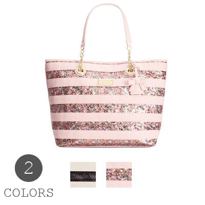 7b4f6b8635e1 Women s bags Betsey Johnson Betsey Johnson Tote Macy s Exclusive STRIPE  SEQUIN TOTE striped sequined bag (2 colors) glitter new Eagle Japan