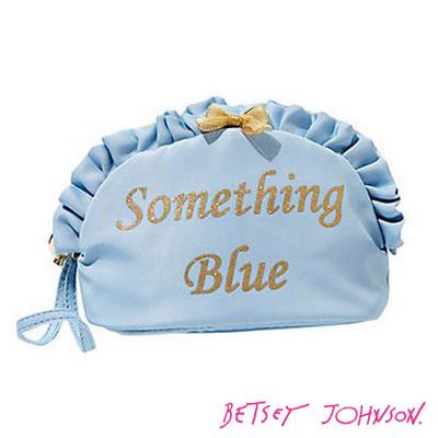 ベッツィージョンソン Betsey Johnson 化粧ポーチBETSEY BLUE SOMETHING BLUE コスメケース(ブルー) ブランド雑貨 カワイイ 小物 新作 正規品 日本未入荷 アメリカ買付