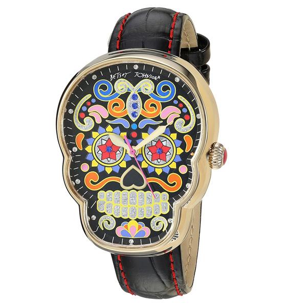 ベッツィージョンソン 腕時計 Betsey Johnson Sugar Skull Case Watch (Black Multi) スカル ウォッチ 時計 (ブラックマルチ) 新作 正規品 日本未入荷 アメリカ買付 海外通販 レディース アクセサリー