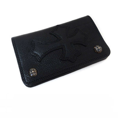 【CHROME HEARTS】クロムハーツ 財布1 Zip Leather Cross Buttons Wallet Cemetary Patch(Black)1ジップ レザー クロス ボタン セメタリーパッチ 財布新作 正規品 日本未入荷 アメリカ買付 USA直輸入