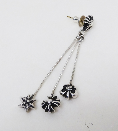Chrome Hearts Earrings Plus 3 Charms Jojo Charm Right Ch Star Bs Flare Motif Real Genuine American Purchase Usa Imported