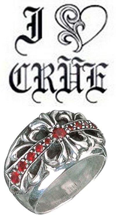 鉻鉻心花交叉環明智的花卉跨紅寶石戒指與生活真正美國購買美國進口