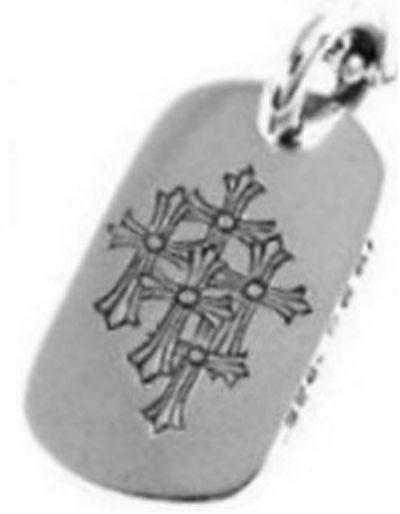 【Chrome Hearts】クロムハーツ ドッグタグ セメタリークロスCemetery Cross Dogtag本物 正規品 アメリカ買付 USA直輸入