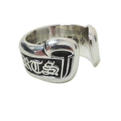 クロムハーツ Chrome Hearts リングCHスモールスクロールラベルリング CH Small Scroll Label Ring本物 正規品 アメリカ買付 USA直輸入