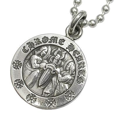 【Chrome Hearts】クロムハーツ ネックレスエンジェルメダルチャームAngel Medal Charm V2 ネックレス本物 正規品 アメリカ買付 USA直輸入