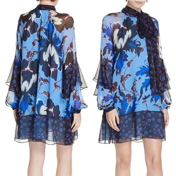 ダイアンフォンファステンバーグ DVF ワンピース DIANE von FURSTENBERG 12301DVFEffie Dress (Phoenix Floral Hydrangea Multi) フローラル シルク ドレス (マルチ)Effie Floral Print Silk Shift Dress 新作 正規品 レディース アパレル 長袖 ワンピ 花柄